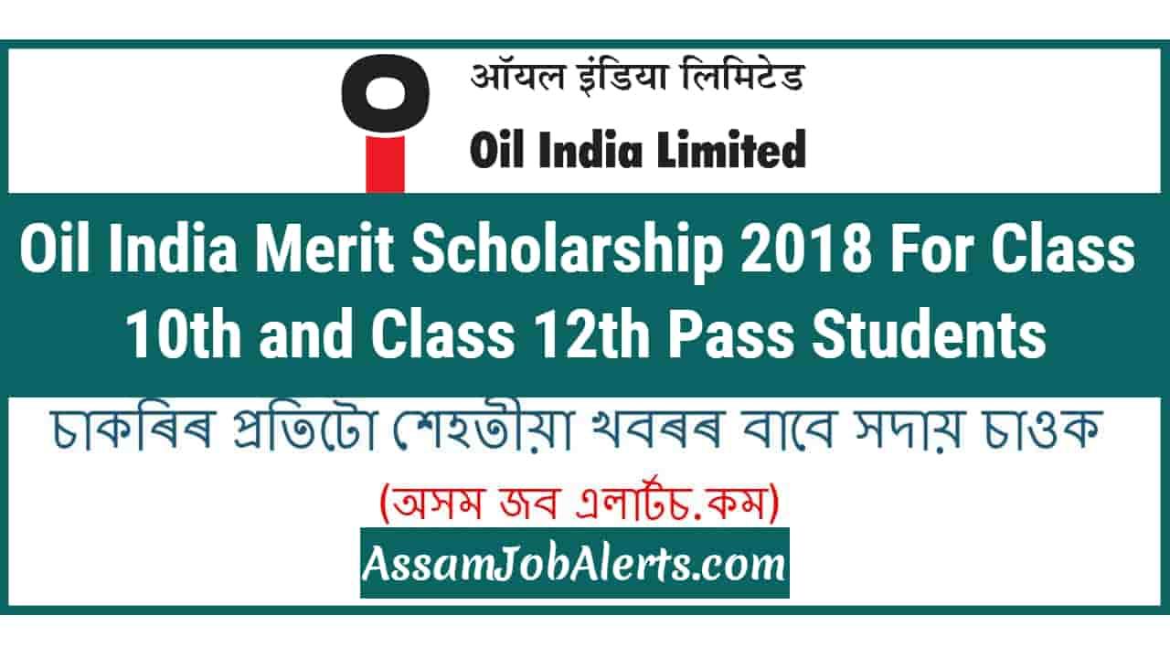 Oil-India-Merit-Scholarship-2018 Online Form Job Sarkari on