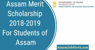 Assam Scholarship 2018-2019 Form Director of Higher Education For Students of Assam