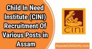 Child In Need Institute (CINI) Recruitment Of Various Posts in Assam
