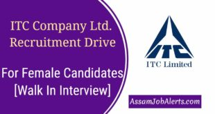 ITC Company Ltd. Recruitment Drive For Female Candidates