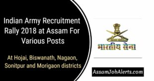 Indian Army Recruitment Rally 2018 at Assam