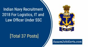 Indian Navy Recruitment 2018 For Logistics, IT and Law Officer Under SSC