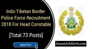 Indo-Tibetan Border Police Force Recruitment 2018 For Head Constable