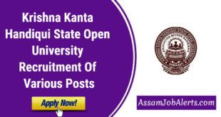 Krishna Kanta Handiqui State Open University Recruitment Of Various Posts