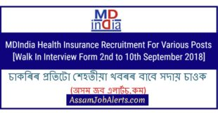 MDIndia Health Insurance Recruitment For Various Posts