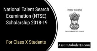 National Talent Search Examination (NTSE) Scholarship 2018-19 For Class X Students