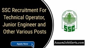 SSC Recruitment For Technical Operator, Junior Engineer