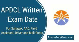 APDCL Written Exam Date