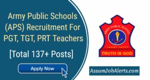 Army Public Schools (APS) Recruitment For PGT, TGT, PRT Teachers