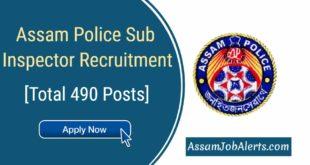 Assam Police SI Recruitment 2018 Apply Online at assampolice.gov.in