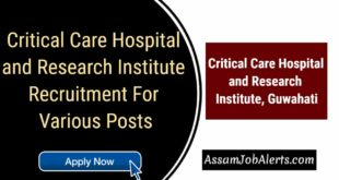 Critical Care Hospital and Research Institute Recruitment For Various Posts