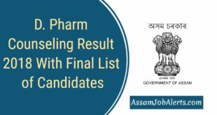 D. Pharm Counseling Result 2018