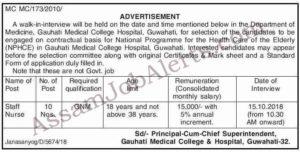 GMCH Staff Nurse Recruitment