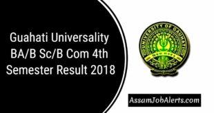 Guahati Universality BAB ScB Com 4th Sem Result 2018