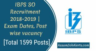IBPS SO Recruitment 2018-2019