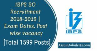 IBPS SO Recruitment 2018-2019