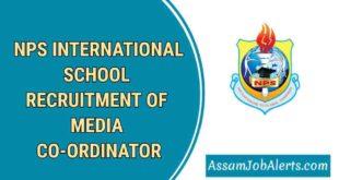 NPS INTERNATIONAL SCHOOL RECRUITMENT OF MEDIA CO-ORDINATOR
