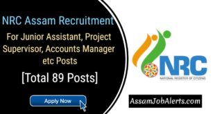 NRC Assam Recruitment