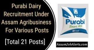 Purabi Dairy Recruitment Under Assam Agribusiness For Various Posts