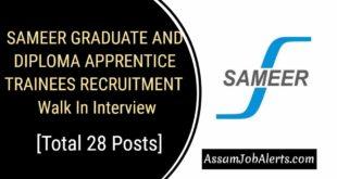SAMEER Graduate And Diploma Apprentice Trainees Recruitment 2018