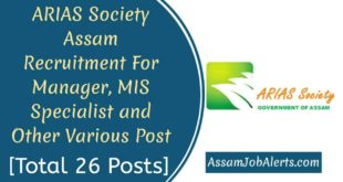 ARIAS Society Assam Recruitment