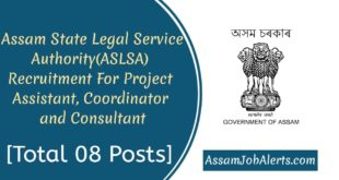 Assam State Legal Service Authority(ASLSA) Recruitment