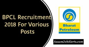 BPCL Recruitment 2018 For Various Posts