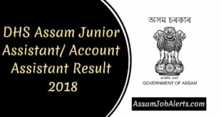 DHS Assam Junior AssistantAccount Assistant Result 2018