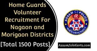 Home Guards Volunteer Recruitment For Nagaon and Morigaon Districts