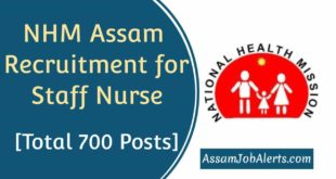 NHM Assam Recruitment for Staff Nurse