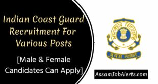 Indian Coast Guard Recruitment For Various Posts