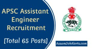APSC Assistant Engineer Recruitment