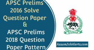 APSC Prelims 2016 Question Paper Solve