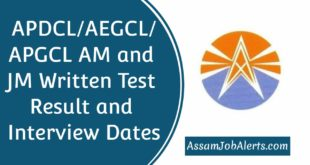 APDCL AEGCL APGCL AM and JM Written Test Result