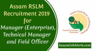 Assam RSLM Recruitment 2019