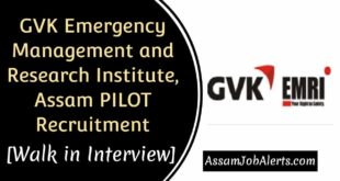 GVK Emergency Management and Research Institute, Assam PILOT Recruitment