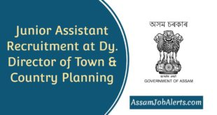 Junior Assistant Recruitment 2019