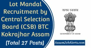 Lot Mandal Recruitment by CSB BTC Kokrajhar