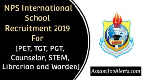 NPS International School Recruitment 2019 For Various Posts