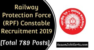 Railway Protection Force (RPF) Constable Recruitment