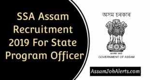 SSA Assam Recruitment 2019 For State Program Officer