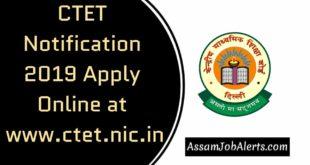CTET Notification 2019 Apply Online at www.ctet.nic.in