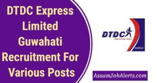 DTDC Express Limited Guwahati Recruitment For Various Posts