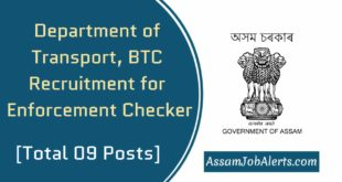 Department of Transport, BTC Recruitment for Enforcement CheckerDepartment of Transport, BTC Recruitment for Enforcement Checker