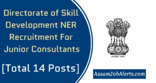 Directorate of Skill Development NER Recruitment For Junior Consultants