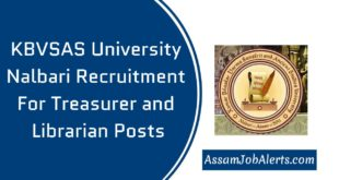 KBVSAS University Nalbari Recruitment For Treasurer and Librarian Posts