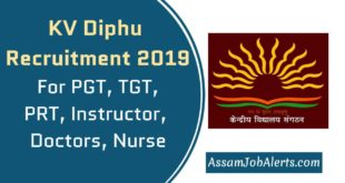 KV Diphu Recruitment 2019