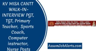 KV MISA CANTT WALK-IN-INTERVIEW PGT, TGT, Primary Teacher, Sports Coach, Computer instructor, Nurse Posts, Other Posts