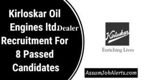 Kirloskar Oil Engines ltd. Dealer Recruitment For 8 Passed Candidates