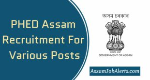PHED Assam Recruitment 2019 For Various Posts